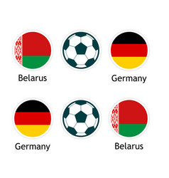 belarus versus germany - banner for soccer vector image