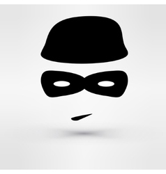 Black Icon thief vector image vector image