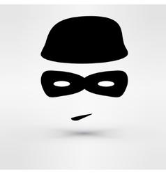Black Icon thief vector