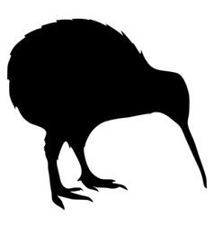 black silhouette of kiwi vector image vector image