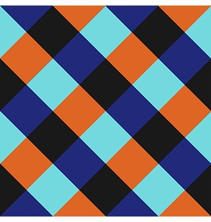 Blue Orange Chess Board Diamond Background vector image