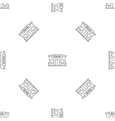 bowling house pattern seamless vector image