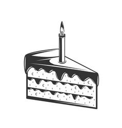 cake isolated on white background vector image