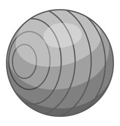 Children ball icon gray monochrome style vector