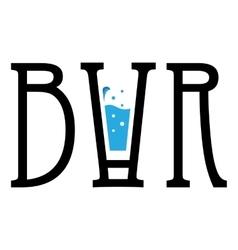 Creative logo bar modern design for your vector