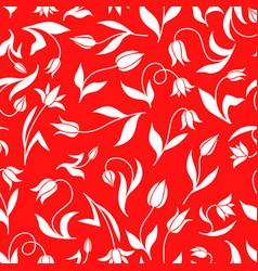 decorative tulips pattern seamless vector image