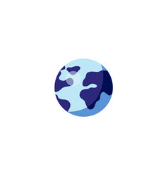 flat globe earth planet icon vector image