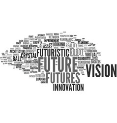 Futures word cloud concept vector