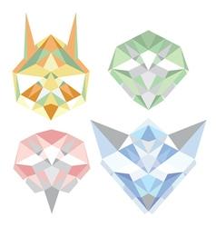 Geometric polygon animals vector image