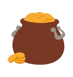 Gold pot icon vector