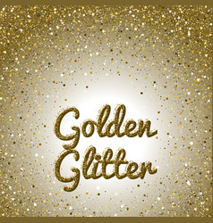 Golden glitter background pink golden sparkling vector
