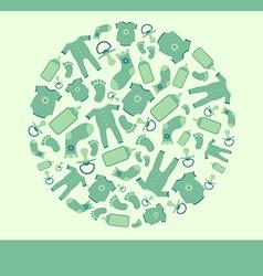 Green baannouncement card vector