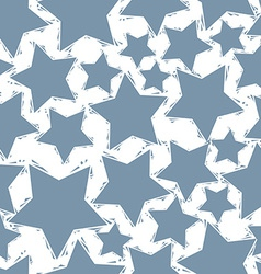 Grey stars seamless pattern geometric contemporary vector image vector image