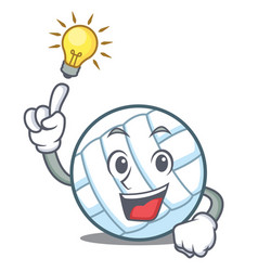 Have an idea volley ball character cartoon vector