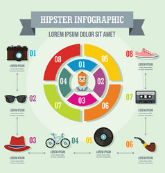 Hipster infographic concept flat style vector