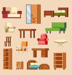 home interior furniture furnishings design vector image