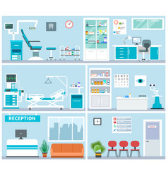 hospital interior empty clinical office indoor vector image