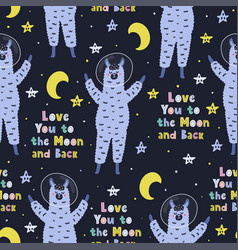 i love you to moon and back seamless pattern vector image