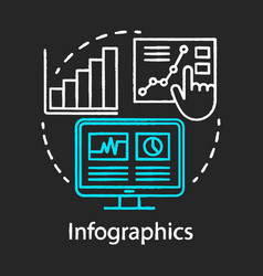 infographics chalk concept icon channels for seo vector image
