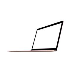Laptop pink mockup vector
