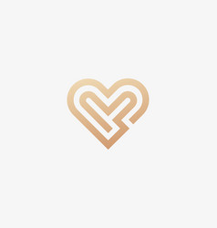 linear heart logo valentines day maze vector image