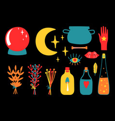 magic equipment collection vector image