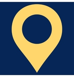 Map Marker flat yellow color icon vector image