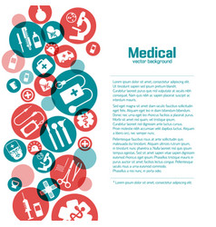 Medical science poster vector