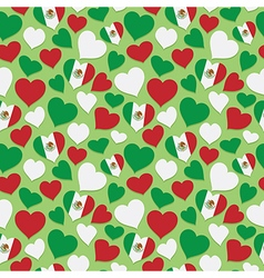 Mexican heart pattern vector