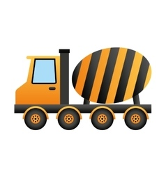 mixer truck construction isolated icon vector image