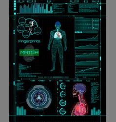 Modern medical examination style hud vector