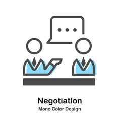 Negotiation mono color vector