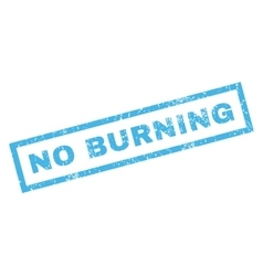 No Burning Rubber Stamp vector