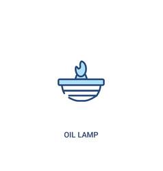 Oil lamp concept 2 colored icon simple line vector