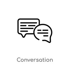Outline conversation icon isolated black simple vector