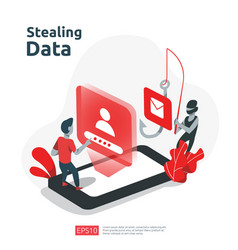 Password phishing attack stealing personal data vector
