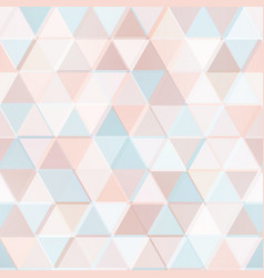 Pastel color geometric triangle pattern vector