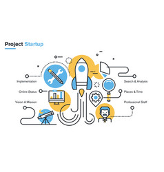 project startup process vector image