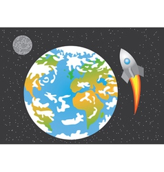 rocket launched in space vector image