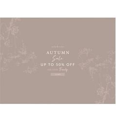 seasonal clearance banner template new autumn vector image