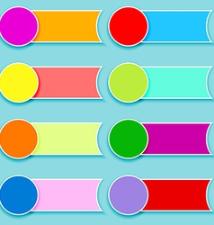 Set of multicolor tags vector image