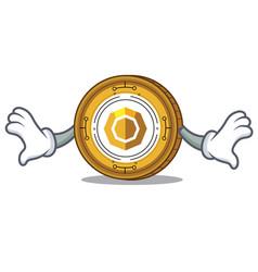 Shock komodo coin mascot cartoon vector