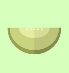simple flat melon slice vector image