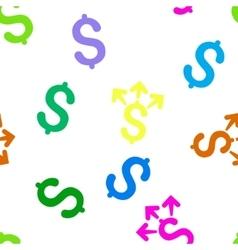 Spend Money Flat Seamless Pattern vector