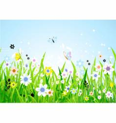 spring meadow vector image