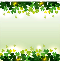 st patricks day clovers seamless pattern vector image