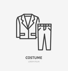Suit line icon pictograph man jacket vector