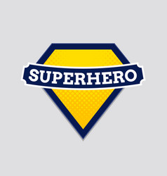 superhero badge logo super hero shield man vector image