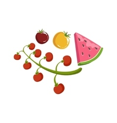 Tomato and watermelon vector