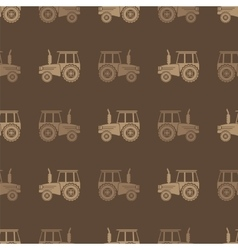 Tractor Icon Seamless Pattern for Farm vector